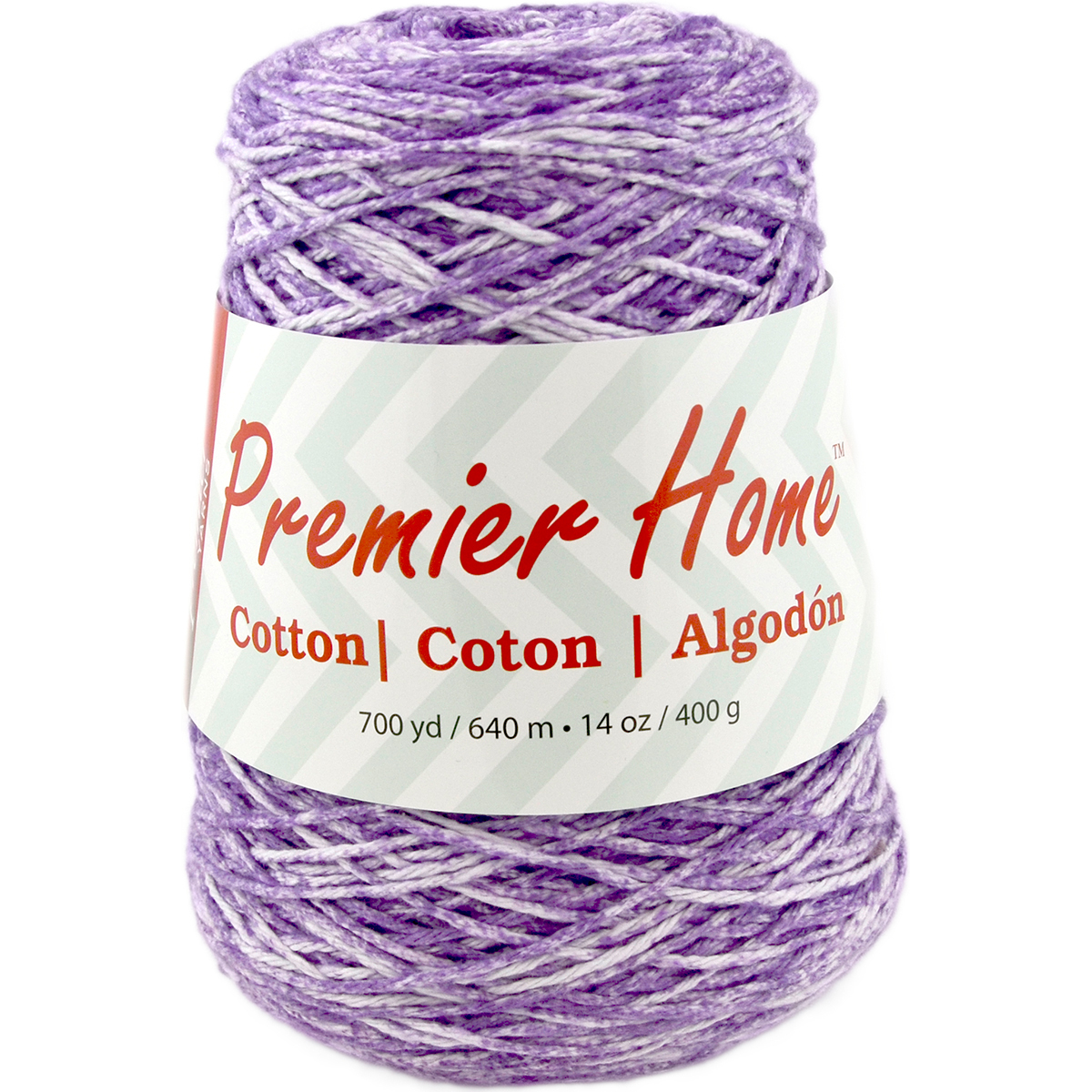 Premier Yarns Home Cotton Yarn - Multi Cone-Violet Splash