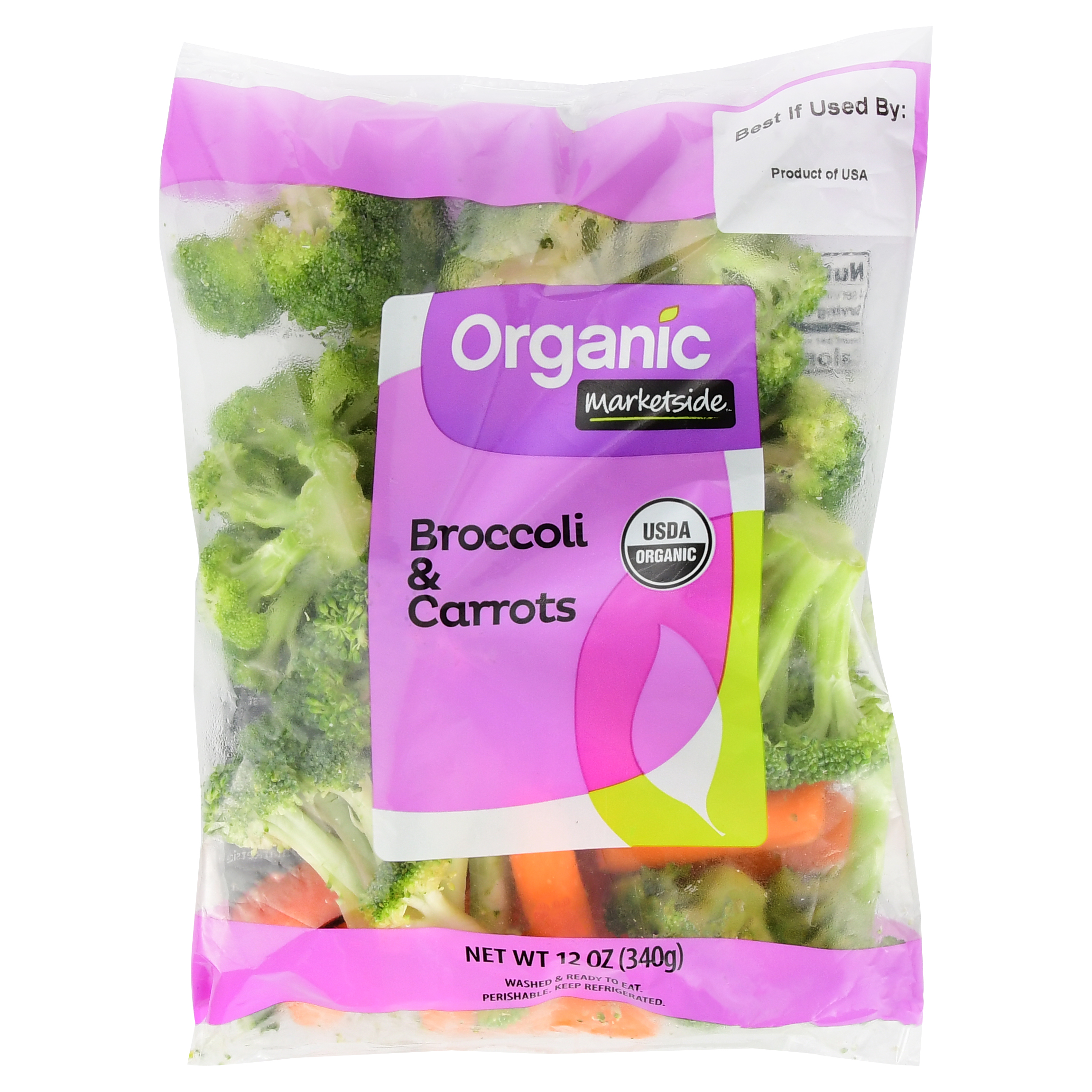 Marketside Organic Broccoli & Carrots, 12 oz