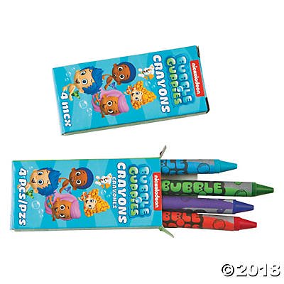 Bubble Guppies™ Crayons(pack of 12) - Bubble Guppies Favors