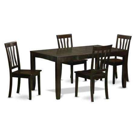 5 Piece Dining Table Set For 4-Dining Room Table With Leaf and 4 Kitchen  Chairs