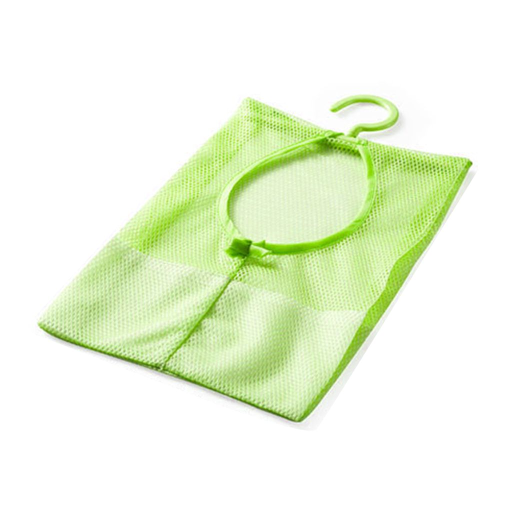 Multipurpose Clothespin Storage Mesh Bag for Closet Rack Clothes Clip Collection
