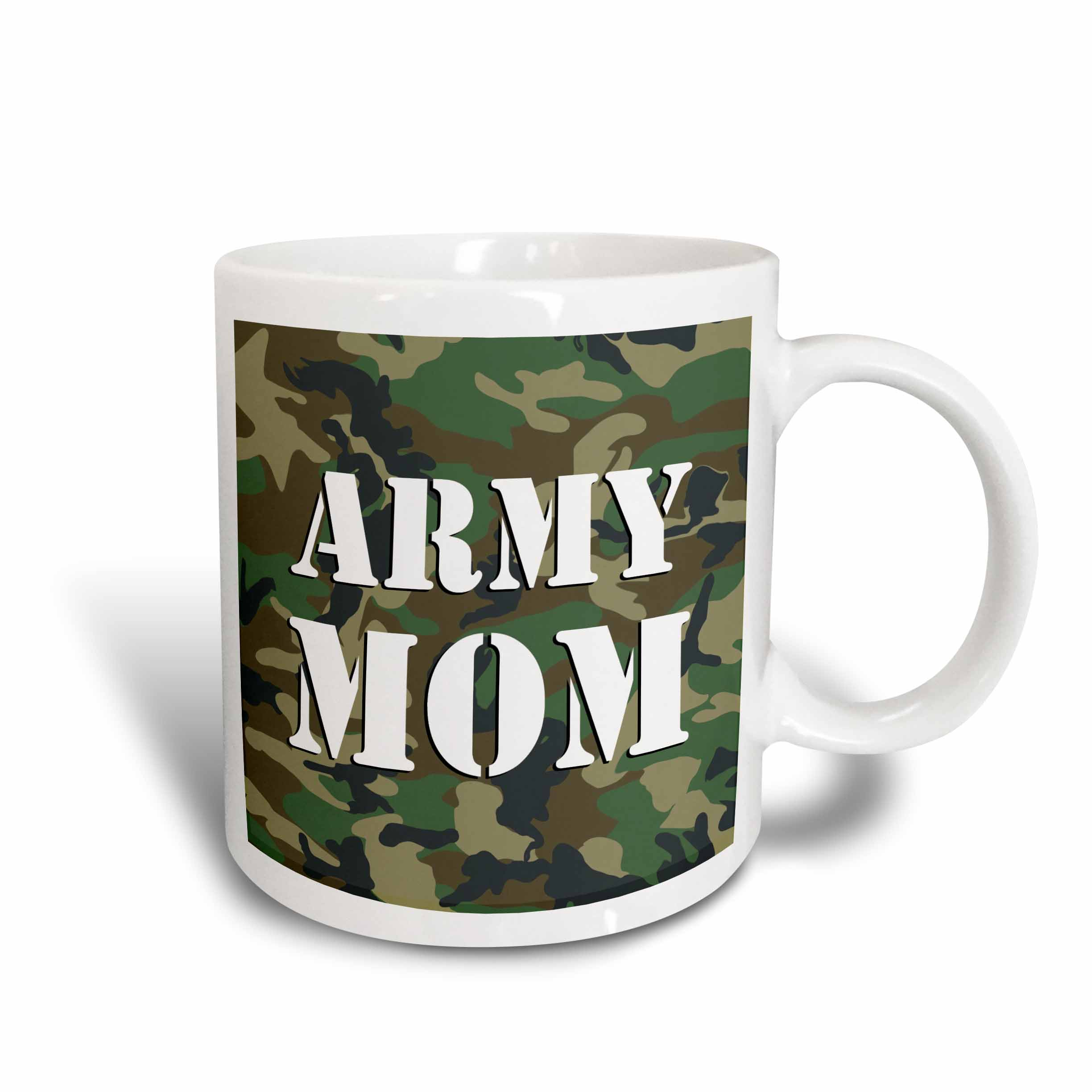 3d Rose 3drose Army Mom Green Camouflage, Ceramic Mug, 11 - ounce