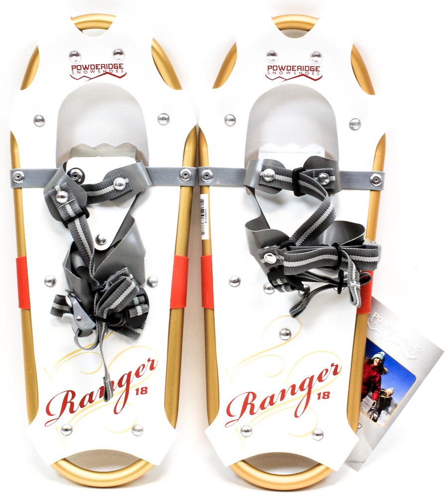 "POWDERIDGE RANGER JUNIOR Girl's Snowshoes 7 X 18"" Pair Snow Shoes White New by"
