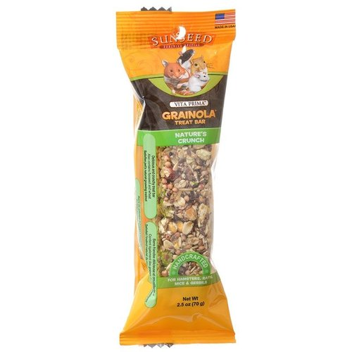 VitaKraft Sunseed Vita Prima Grainola Treat Bar - Natures Crunch 1 Pack - 4 Inch Bar - (2.5 Ounce)