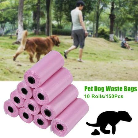 WALFRONT 10 Rolls/150Pcs Plastic Pet Dog Waste Bags 33 * 22cm Durable Trash Cleaning Bag,Waste Bag, Plastic Trash Bag - image 1 of 6