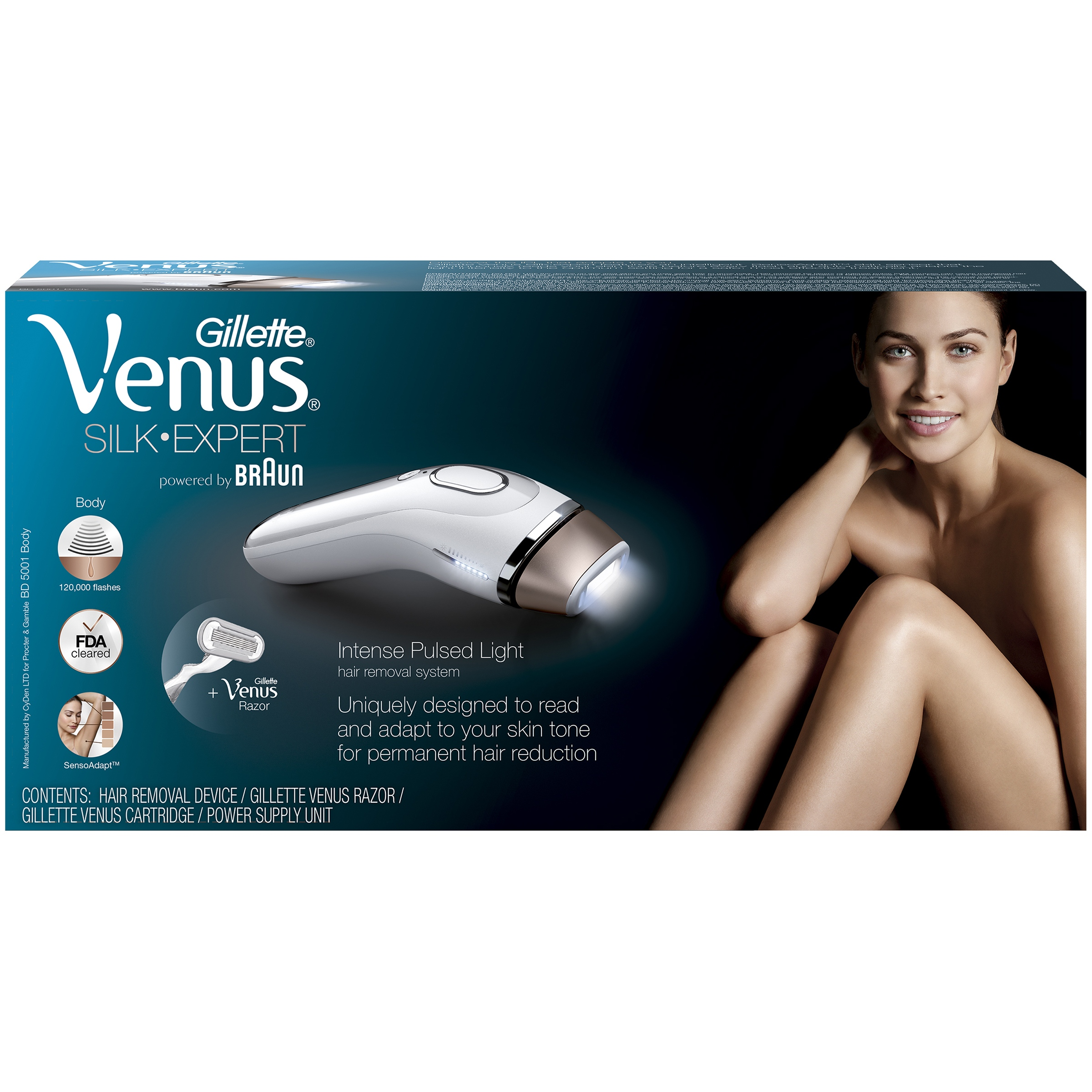 Gillette Venus Silk Expert Ipl 5001 Intense Pulsed Light Body