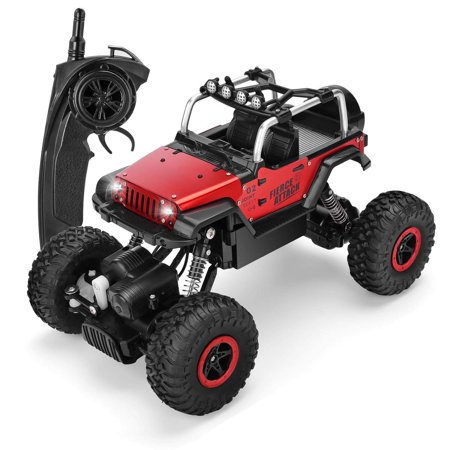 SZJJX RC Cars 1/18 Scale 4WD High Speed Vehicle 12MPH+ 2.4Ghz Radio Remote Control Off Road Racing Monster Trucks Fast Electric Race Desert Buggy with LED Light Vision Metal Shell - Rake Monster