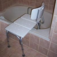 Anself Adjustable Shower Chair Seat Medical Bathroom Bath Tub Transfer Bench Stool