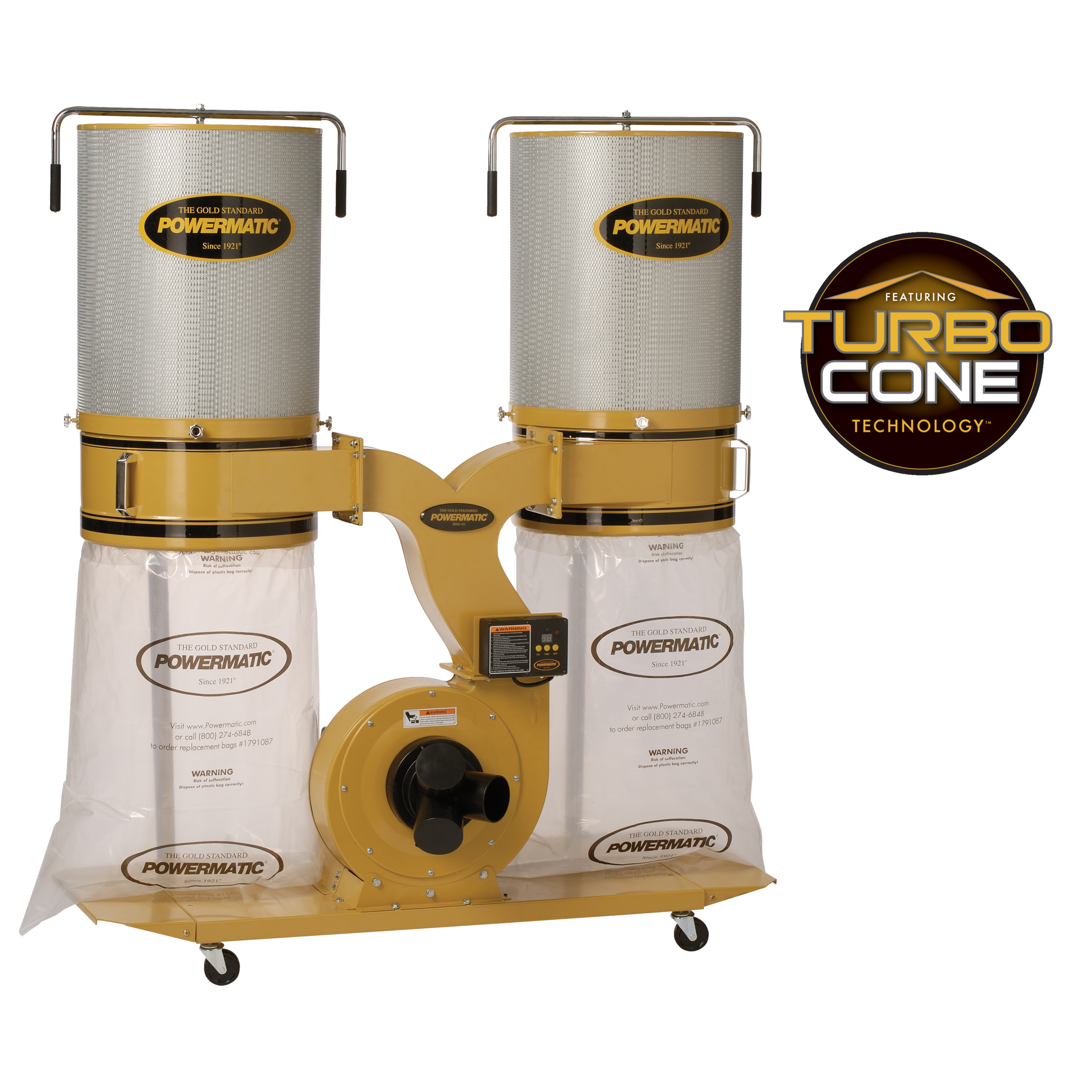 Powermatic PM1900TX-CK1 Dust Collector w/ Canister Kit 3HP 1PH - 1792072K