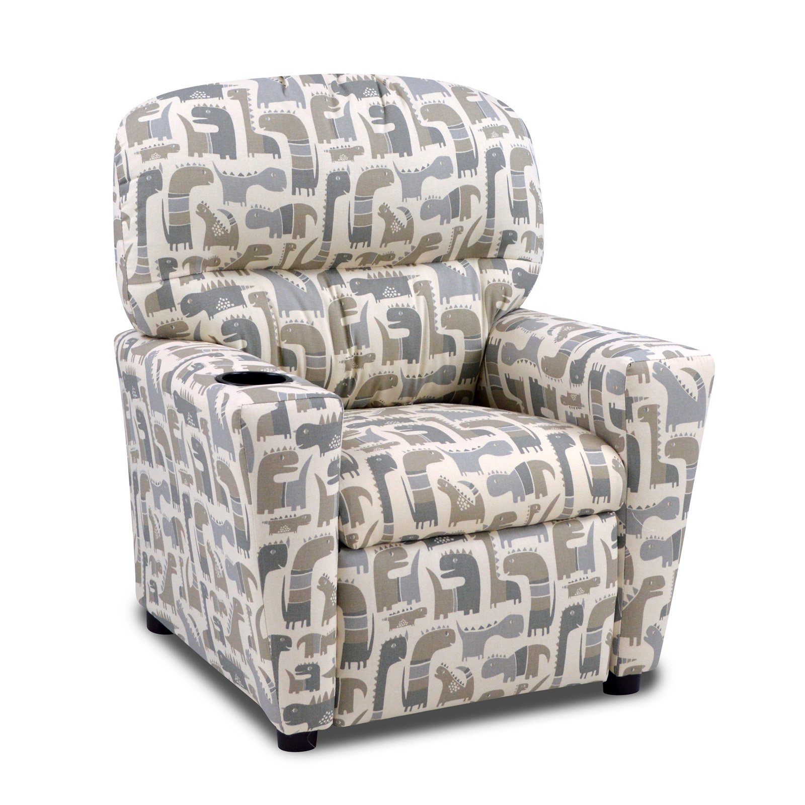 Kangaroo Trading Kids Monster Upholstered Recliner with Cup Holder