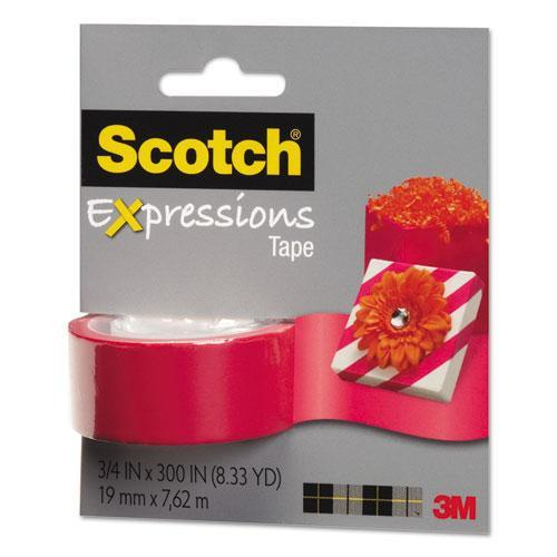 "Scotch Expressions Magic Tape, 3/4"" x 300"", Salmon -MMMC214SAM"