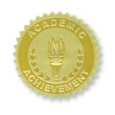 (3 Pk) Gold Foil Embossed Seals Academic Achievement