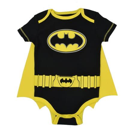Justice League Batman Baby Boys' Bodysuit and Cape Set (Black, 24 Months) (Flash Outfit)