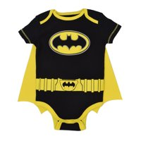 Justice League Batman Baby Boys' Bodysuit and Cape Set (Black, 24 Months)