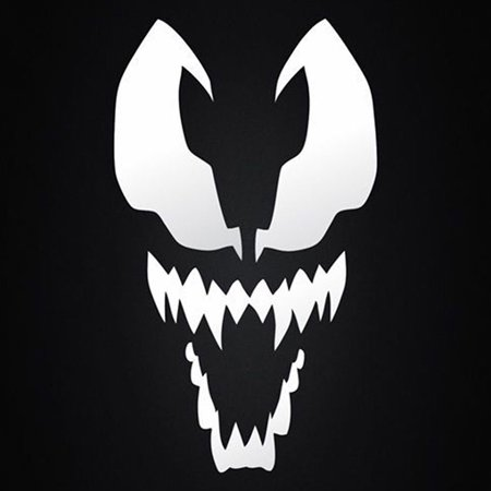 Venom Spiderman Vinyl Cut Decal With No Background | 5.5 Inch White Decal | Car Truck Van Wall Laptop Cup - Spiderman Vans