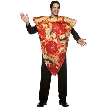 Morris Costumes Adult Unisex Get Real Pizza Slice Costume One Size, Style GC7105P - Pizza Costumes