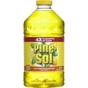 Pine-Sol Multi-Surface Cleaner, Lemon Fresh Bottle, 100 Ounces