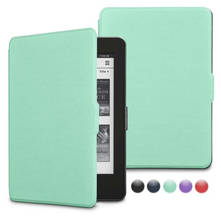 Flip Cover Case Kindle - Kindle Paperwhite Case, Njjex Case Kindle Paperwhite 1/2/3, Synthetic Leather Vertical Flip Cover with Auto Wake / Sleep for Amazon Kindle Paperwhite (Fits 2012, 2013, 2015 & 2016 Versions)