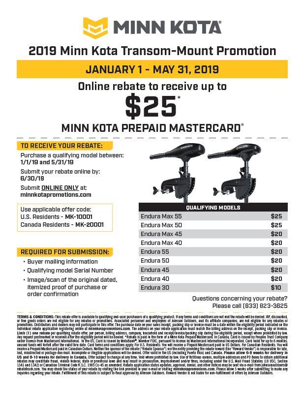 "Minn Kota Endura C2 55 36/"" Transom Mount Trolling Motor With Power Prop New"