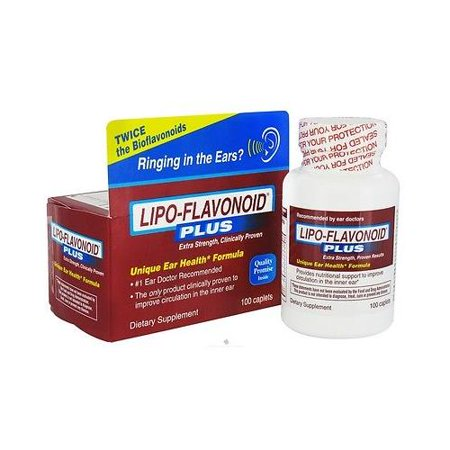 Lipo Flavonoid Plus Caplet 100 Count Helps Circulation In The Ear