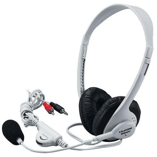 Califone International 3064AV Lightweight Stereo Headphones With Boom Microphone