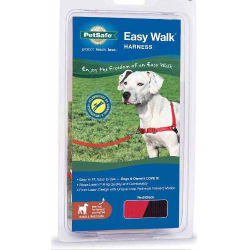 Premier Easy Walk Pet Harness, Large, Black/Silver Multi-Colored