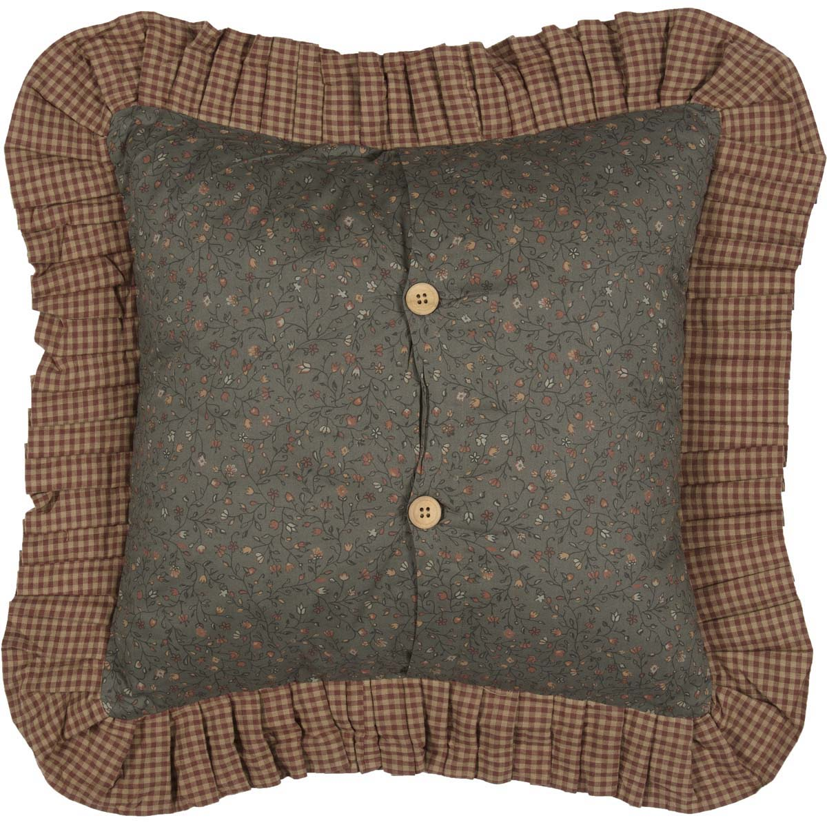 Fantastic Dark Olive Green Primitive Bedding Cinnamon Plaid Cotton Patchwork Square 18X18 Pillow Pillow Cover Pillow Insert Customarchery Wood Chair Design Ideas Customarcherynet