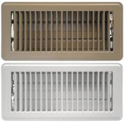 Greystone ABFRBR410 4 x 10 in. Floor Register with Louvered Design, Brown
