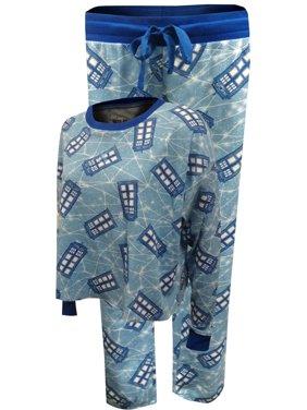 MJC Women's BBC Doctor Who Tardis Plus Size Thermal Jogger Pajama