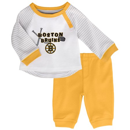 3410a38fa Outerstuff - Boston Bruins Newborn & Infant Scrimmage 2-Piece Pant Set -  Gold - Walmart.com