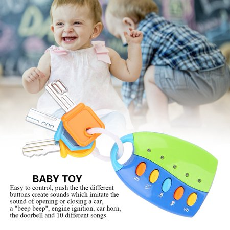 LYUMO Baby Toy Smart Key Remote Car Control Musical Pretend Play for Kids Education Toys, Baby Car Toy, Baby Car Remote Control ()