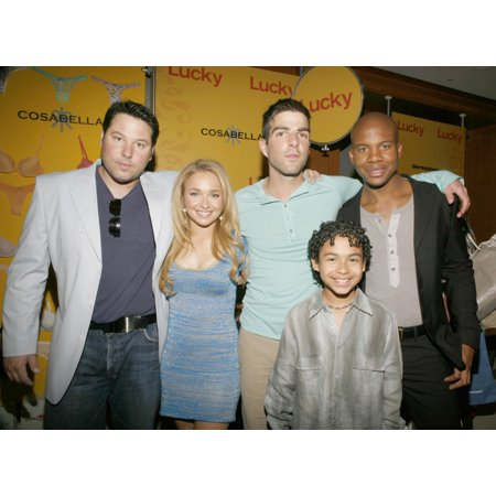 Greg Grunberg Hayden Panettiere Zachary Quinto Noah Gray-Cabey Leonard Roberts   Inside For Lucky Club Gift Lounge For The 2007-2008 Tv Network Upfronts Previews The Ritz Carlton Hotel New York Ny May for $<!---->