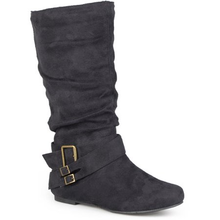 Image of Brinley Co. Women's Slouchy Side Accent Buckle Boots