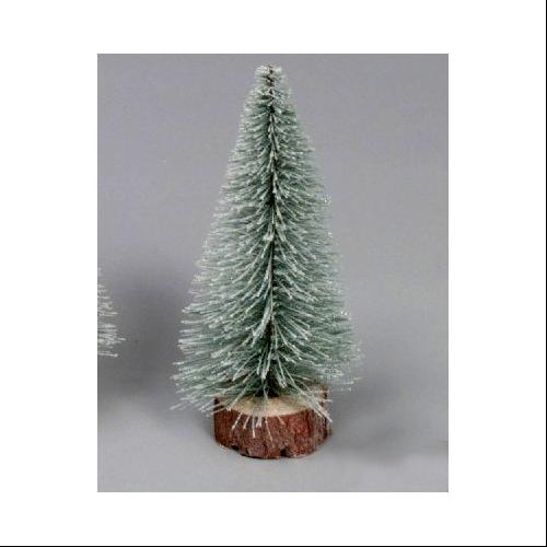"12"" Flocked Artificial Village Christmas Tree - Unlit"