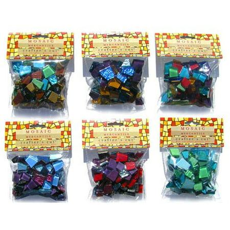 Mosaic Mercantile - Crafter's Cut Pre-Cut Mosaic Tiles - Harmonious Mixes - Princess Mix, 1/2 lb. Bag