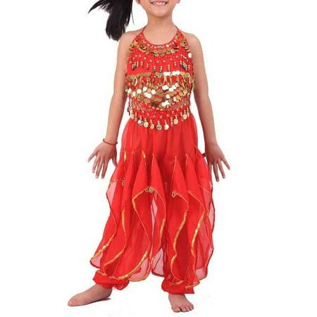 BellyLady Kid Children Belly Dance Costume, Harem Pants & Halter Top Sets - Arabian Harem Costume