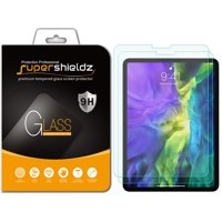 [2-Pack] Supershieldz for Apple iPad Pro 11 inch (2020 / 2018) Tempered Glass Screen Protector,   Anti-Scratch, Anti-Fingerprint, Bubble Free