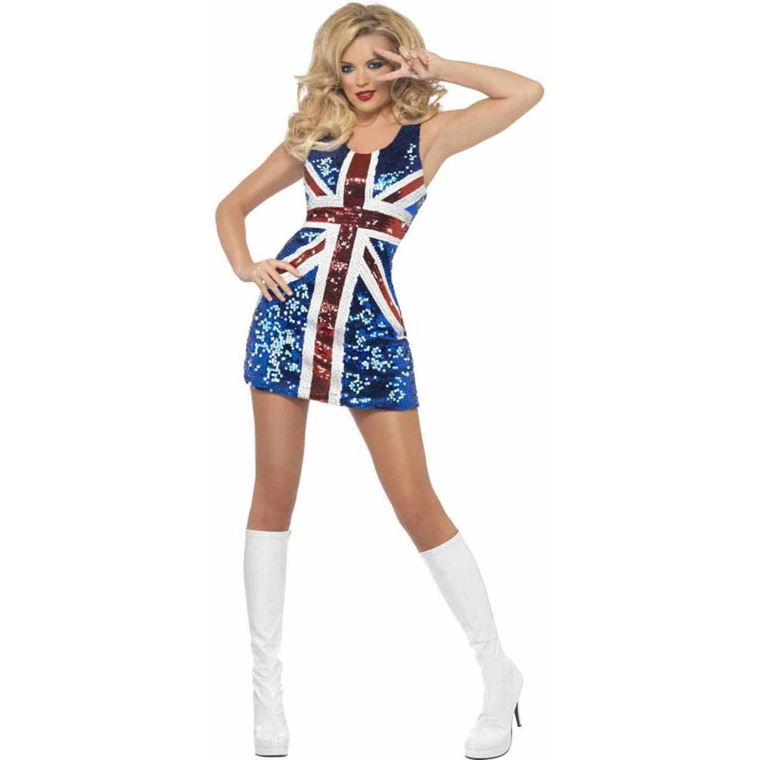 All That Glitters Rule Britannia Union Jack Dress Women's Adult Halloween Costume