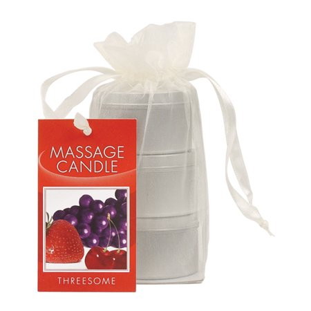 Earthly Body Edible Candle Threesome Gift Bag - 2 oz Asst. Flavors Bag of - Paper Bags For Candles