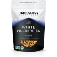 Terrasoul Superfoods Organic Sun-Dried White Mulberries, 5.0 Oz