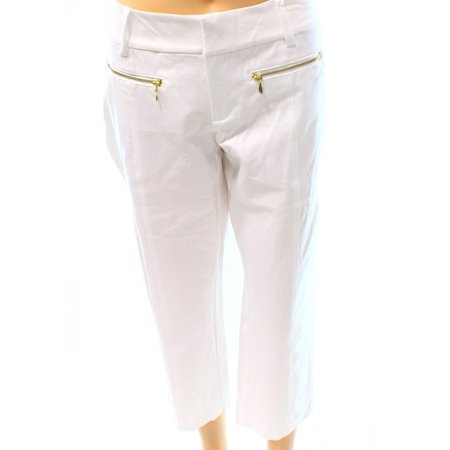 - INC NEW White Bright Women's Size 2X26 Straight Leg Cropped Dress Pants
