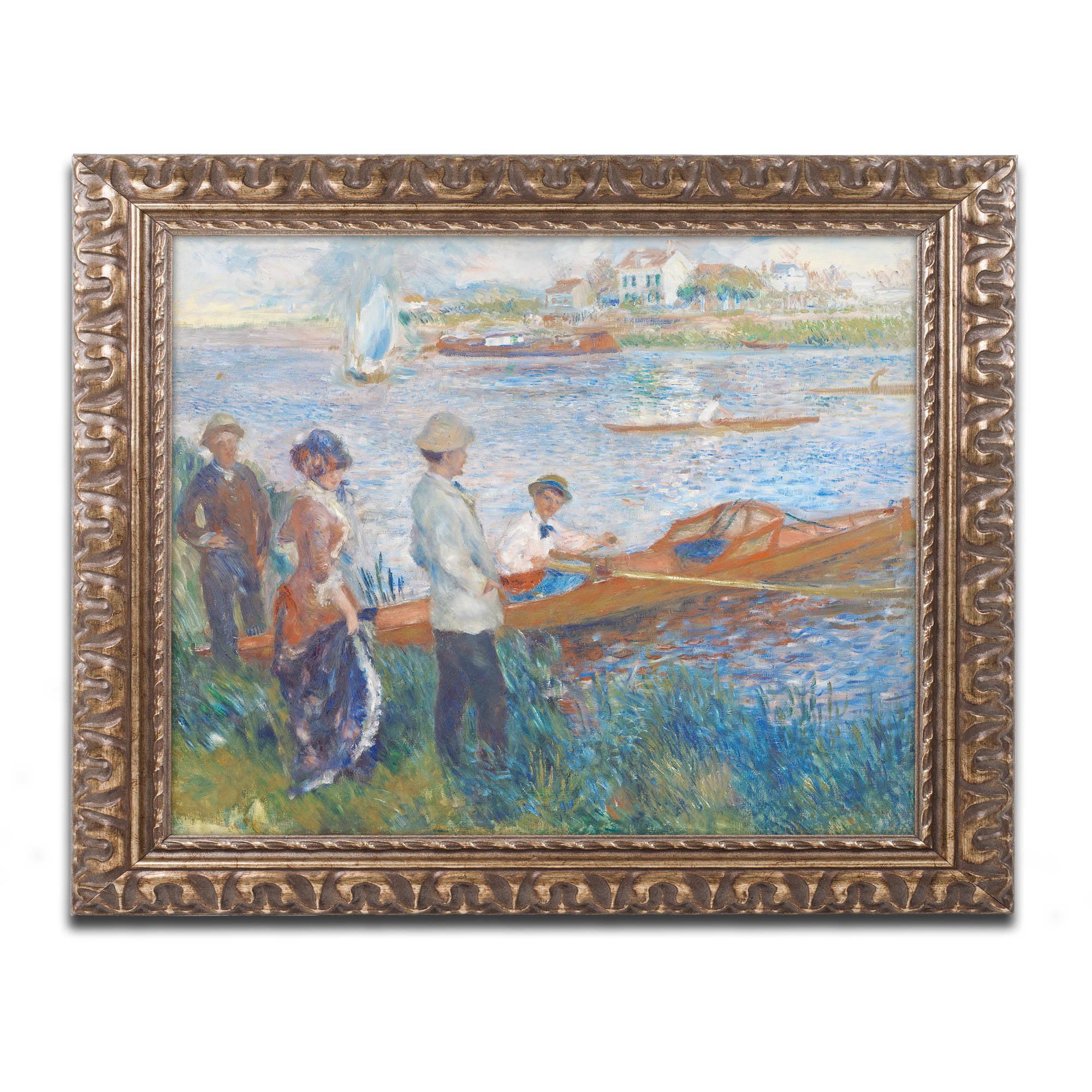 Trademark Fine Art Oarsmen At Chatou 1879 Canvas Art By Pierre Renoir Gold Ornate Frame Walmart Com Walmart Com
