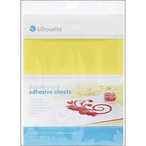 "Silhouette Double, Sided Adhesive Sheets, 8-1/2"" x 11"", 8/pkg"