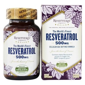 Reserveage Nutrition - Resveratrol 500 mg. - 60 Vegetarian Capsules