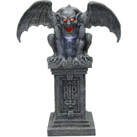 Gargoyle Animated Halloween Decoration - Halloween Door Decoration Ideas Dorm