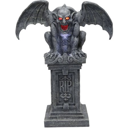 Gargoyle Animated Halloween Decoration - Easy Homemade Outdoor Halloween Decorations