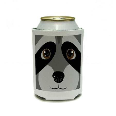 Raccoon Face - Close up Can Cooler Drink Insulator Beverage Insulated Holder