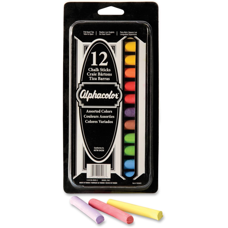 "Acco Omega Chalk - 0.45 "" Chalk Size - White Chalk, Orange Chalk, Yellow Chalk, Blue Chalk, Green Chalk, Red Chalk, Purple Chalk - 12 / Box (qrt-305003)"