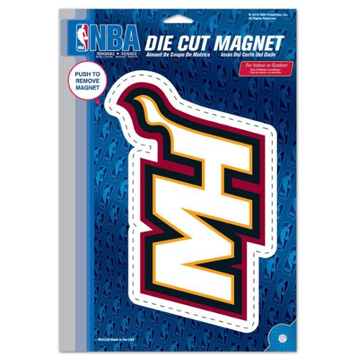 Miami Heat Official NBA 6 inch x 9 inch  Car Magnet by Wincraft