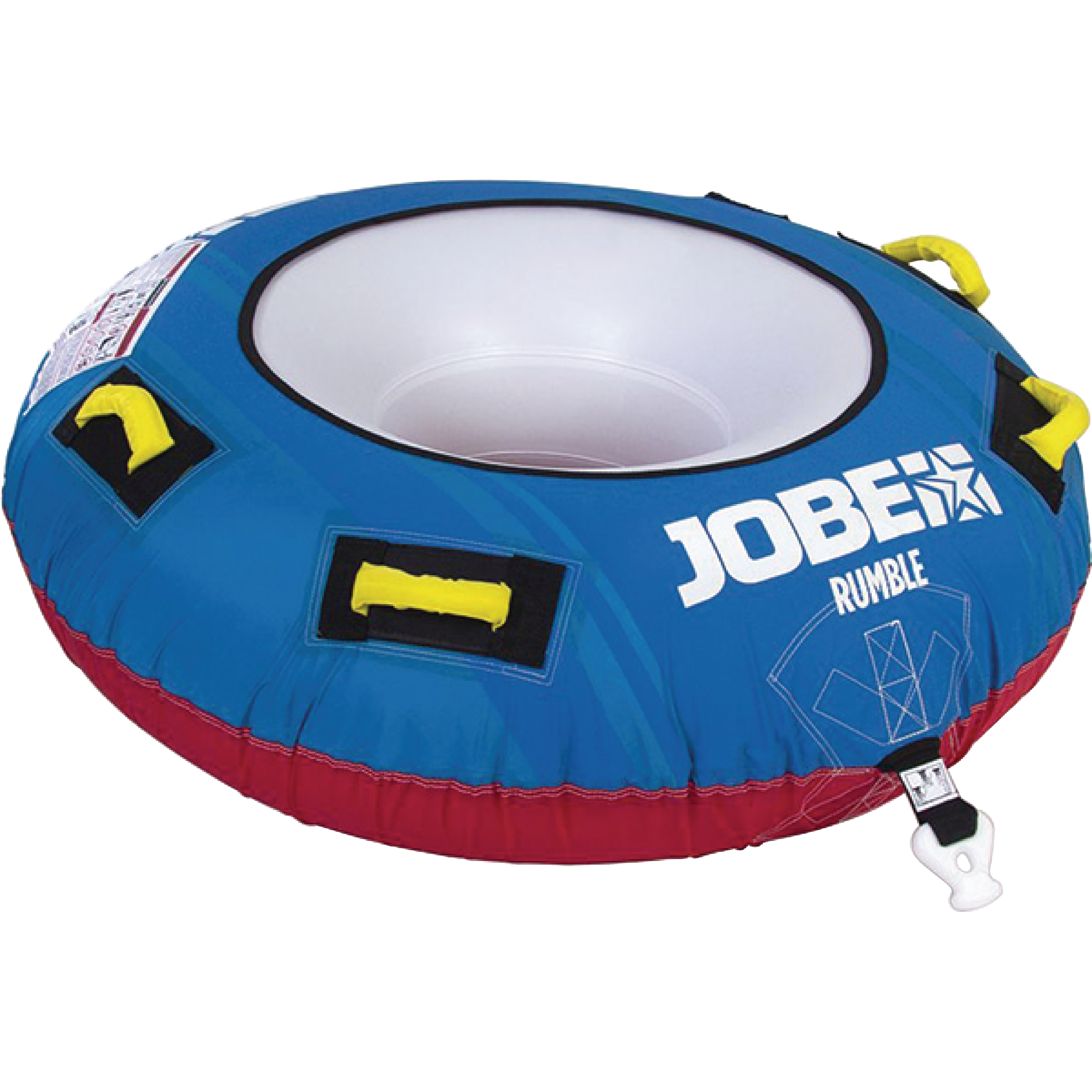 Jobe 230117001 Blue Rumble 1 Person Rider Open Top Inflatable Towable